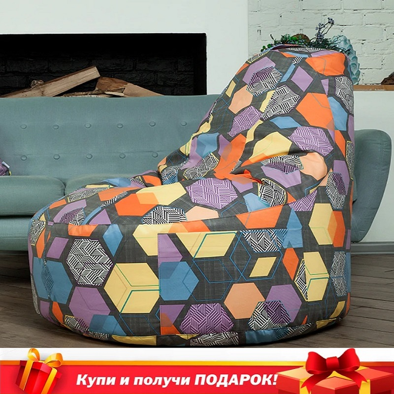 Chair Delicatex/Oakland Color Multicolor Bag Chair, Poof For Living Room, For Kids, Lazy Bag