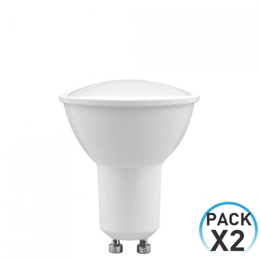 Pack 2 LED Spotlight Bulbs GU10 8W Equi.60W 700lm 6000K 25000H 7hDayron