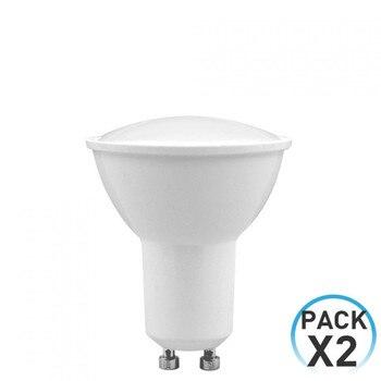 Pack 2 LED Spotlight Bulbs GU10 8W Equi.60W 700lm 6000K 25000H 7hDayron