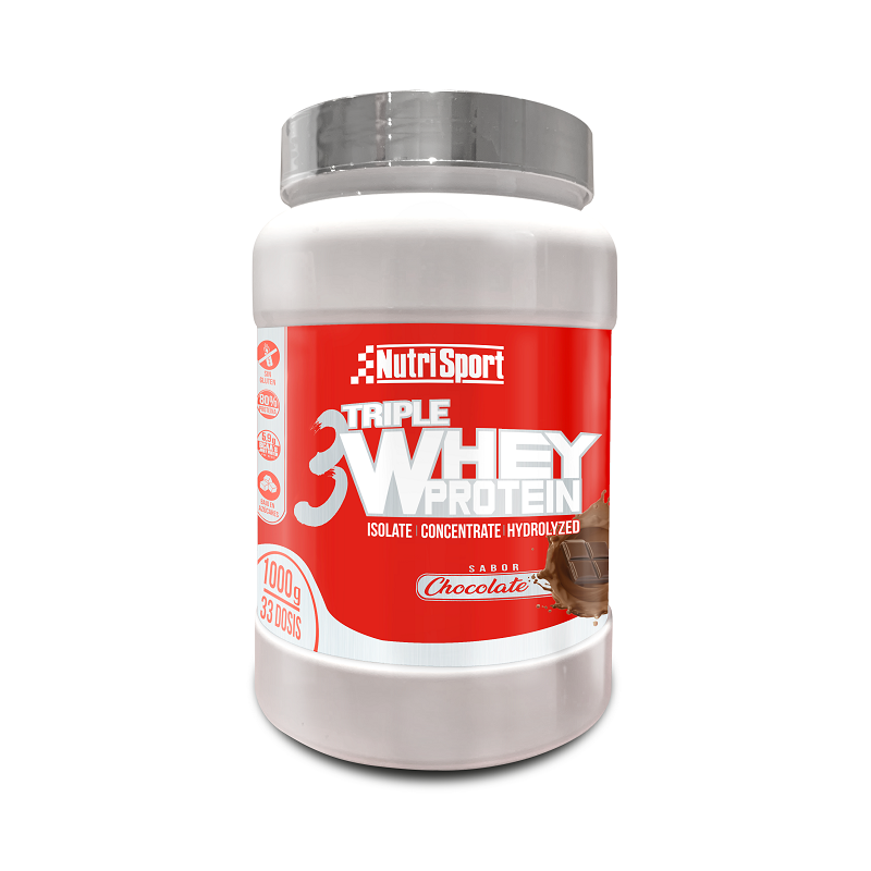 NutriSport Triple Whey Protein Chocolate 1Kg Protein supplement image