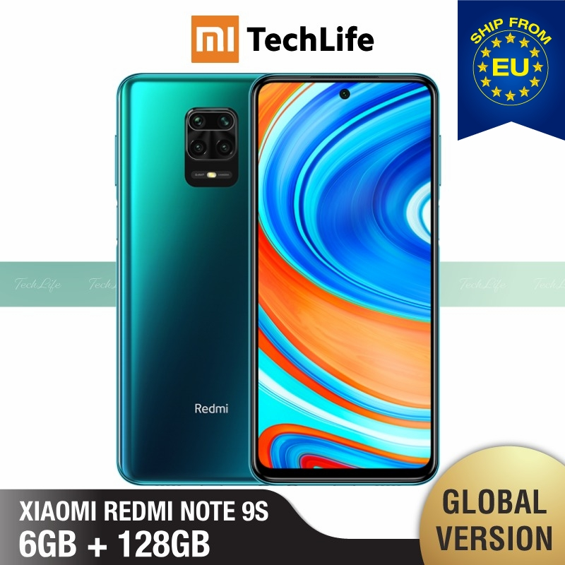 Versão global xiaomi redmi note 9s 6 gb ram 128 gb rom (novo/selado) redminote9s, redmi, nota, 9s smartphone móvel
