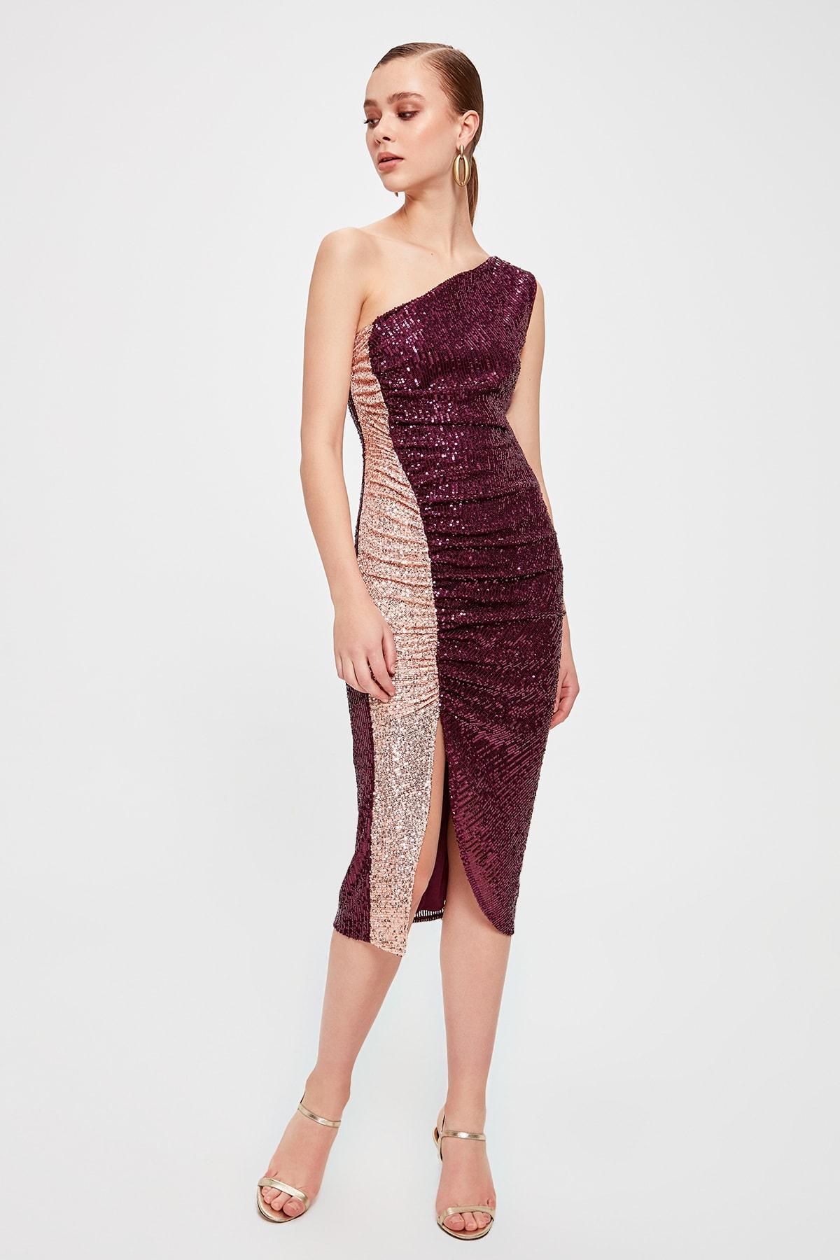 Trendyol Shir Detail Dress TPRSS20EL0157