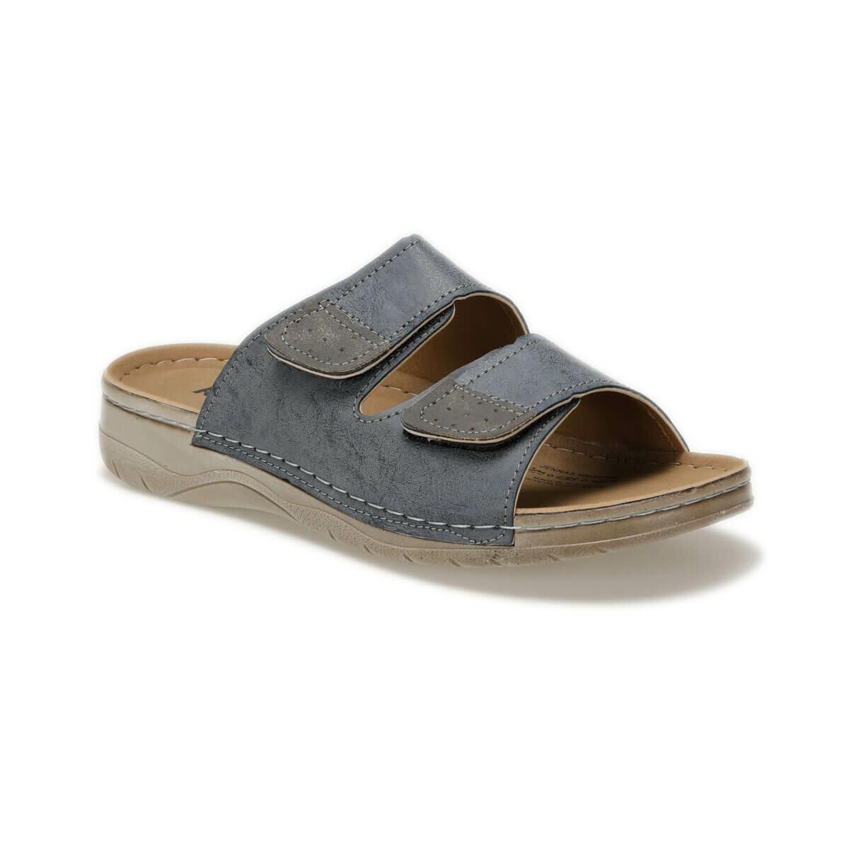 FLO Men Slippers New Arrival Summer Men Flip Flops High Quality Beach Sandals Anti-slip Zapatos Hombre Casual Shoes KINETIX JENNAS Navy Blue