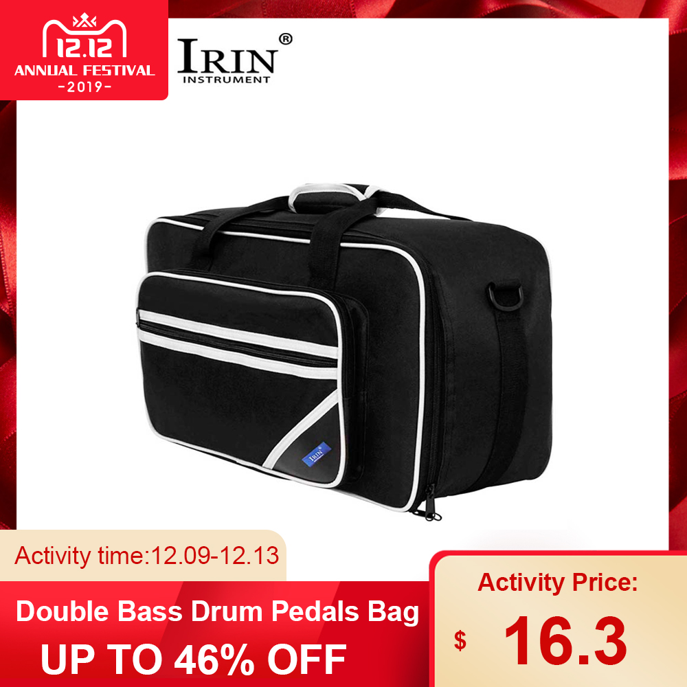 IRIN Double Bass Drum Pedals Bag Carrying Case Percussion Bag Drum Set Accessories