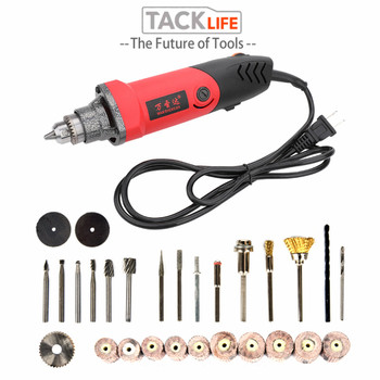 цена на TACKLIFE EU 500W Variable Speed Mini Electric Drill Grinding Machine Grinder Set Dremel Rotary Tool with Engraving Accessories