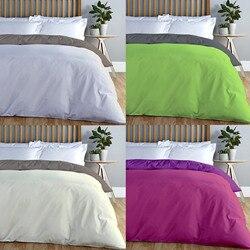 Adp casa-suporte estojo de consolador, capa de edredão bi-color, qualidade 144 x strand, 12 combinações, cama único