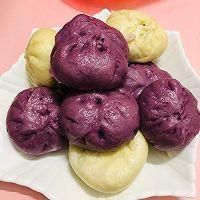 紫薯包,南瓜包的做法图解8