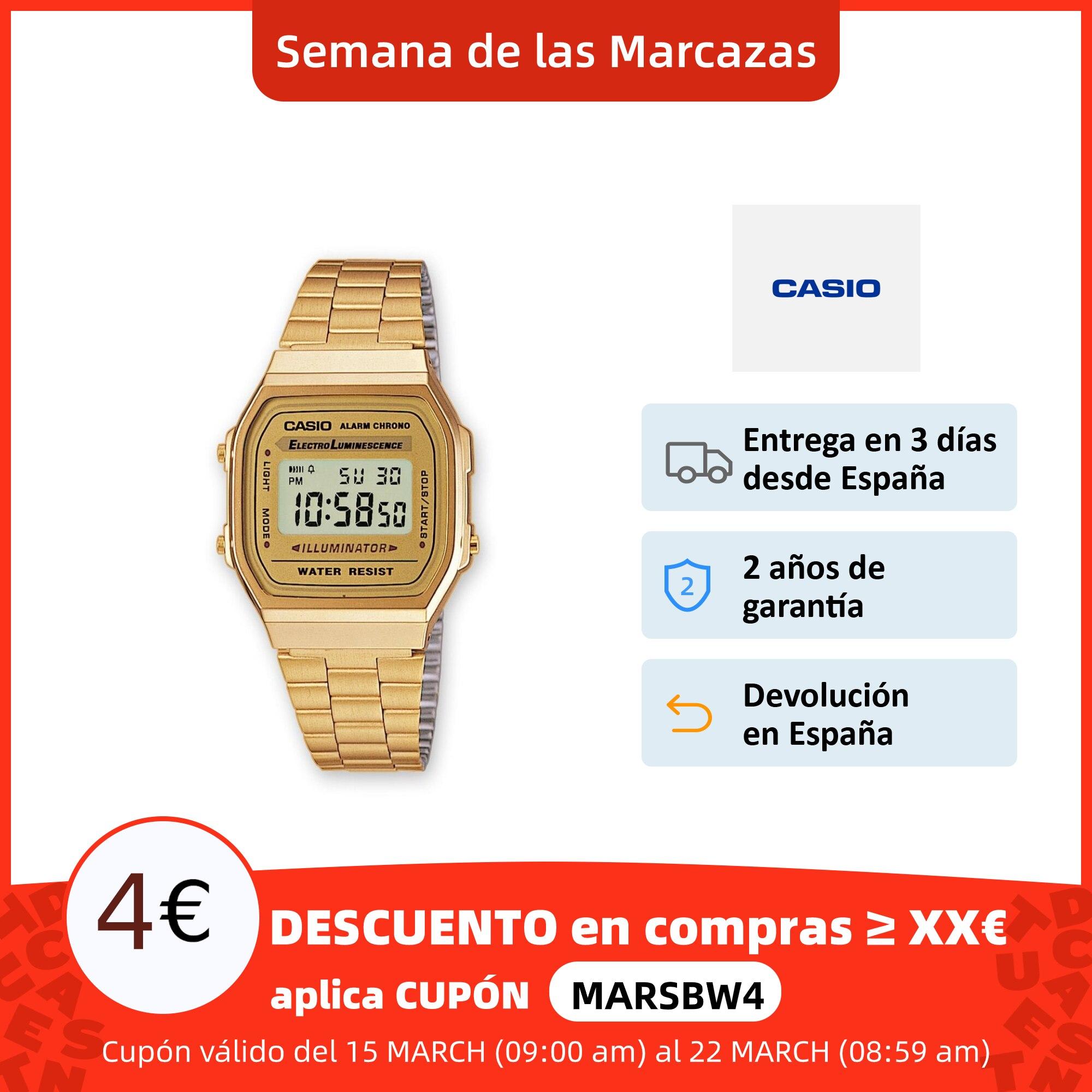 Casio Reloj digital de oro A168WG para hombres y mujeres, pulsera de moda para deporte, Casio A168WG Relojes digitales  - AliExpress