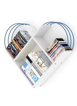 Meble do domu regał ścienny regał dekoracyjny regał na książki regały biblioteczne biało-niebieskie tanie i dobre opinie Mineger Goods TR (pochodzenie) Turkey 89x74x18 CM Nowoczesne Drewna meble do salonu Drewniane