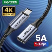 UGREEN-Cable de extensión USB tipo C macho a hembra, adaptador Thunderbolt 3 para Nintendo Switch, MacBook Pro, Google Pixel 3 2