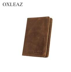 Cubierta en el pasaporte de cuero genuino dioulaorentou OX018