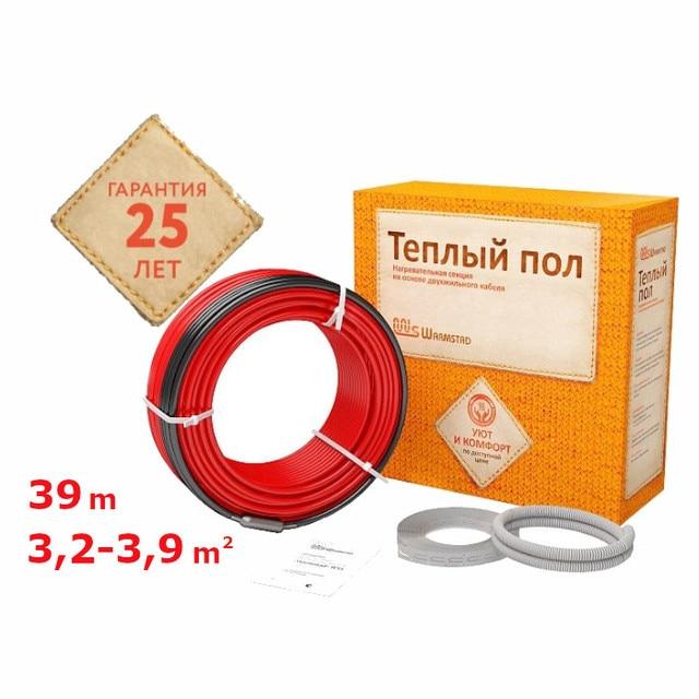 Нагревательный кабель для теплого пола Warmstad WSS 39m/580W Площадь обогрева от 3,2 до 3,9 м²