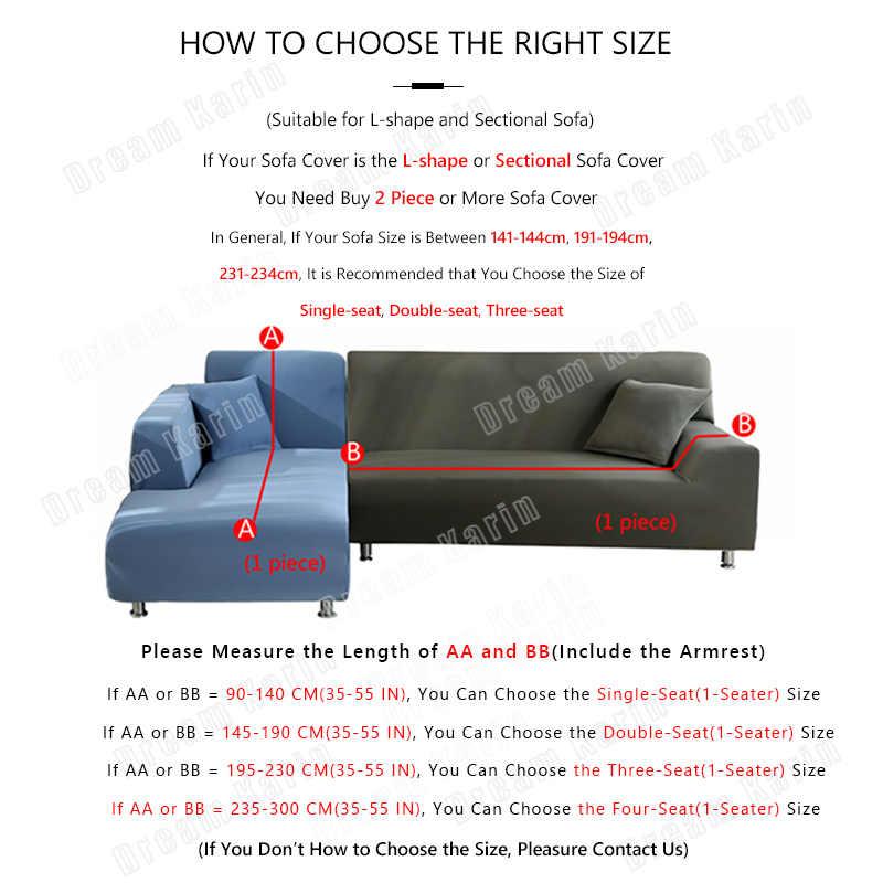 탄성 소파 커버 솔리드 컬러 L 모양 안락 의자 소파 커버 1/2/3/4 Seater 소파 커버 거실 단면 Slipcovers