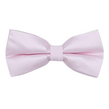Men's bow tie (pink, microfiber) 56029