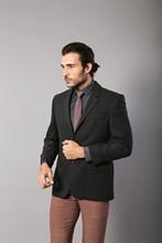 Wessi męski czarny kurtka z wełny klasyczny ślub zaręczynowy Casual klasyczna kurtka kwadratowe wzorzyste paski tanie tanio Poliester REGULAR TR (pochodzenie) Pojedyncze piersi Pełna Formalne C-42 YC-10