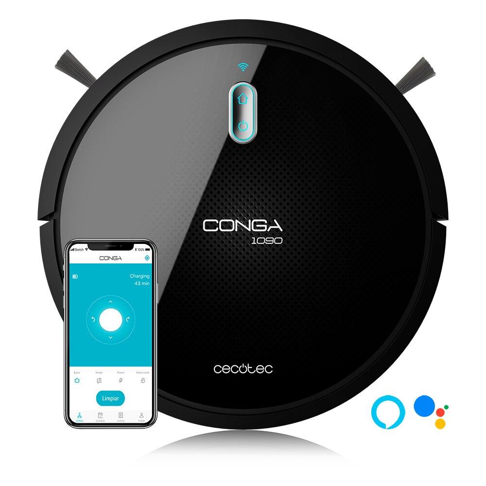 Робот пылесос Cecotec Conga Series 1090 подключен. 1400 PA, Com PA tible с Alexa и Google Home