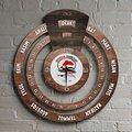 Персонализированные профессиональные рыболовные технологии инженера бесконечного Майя календарь деревянные настенные часы