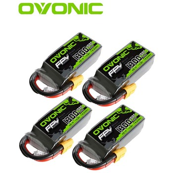 OVONIC 14.8V 4S 1300mAh 100C LiPo Battery Pack With XT60 Plug For Drone FPV Freestyle RC Airplane RC Helicopter RC Car RC Truck 22 2v 5000mah 25c 30c 35c 40c 60c 6s lipo battery for rc boat car truck drone helicopter quadcopter airplane uav