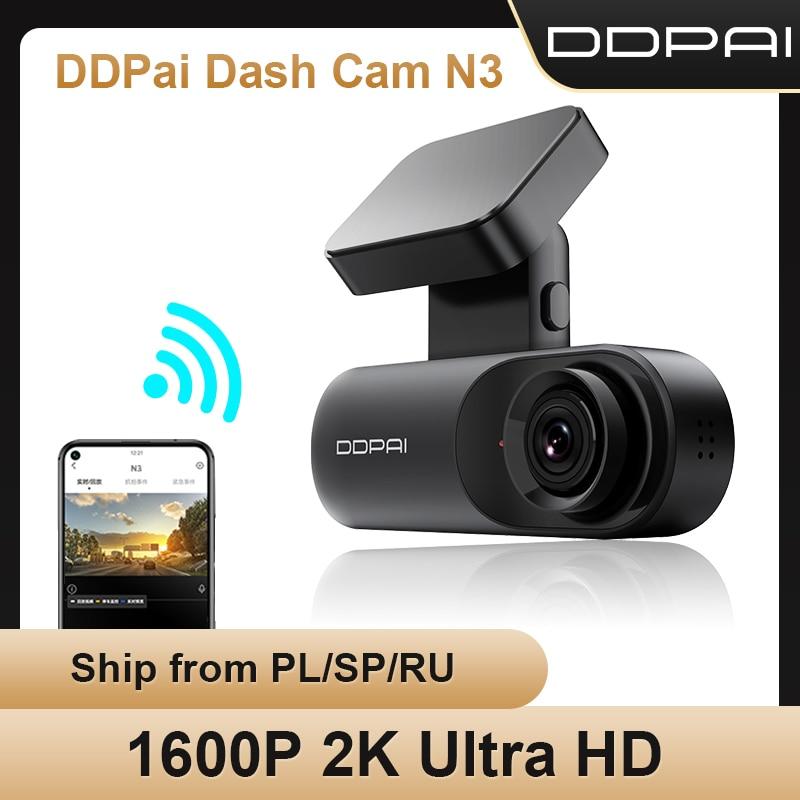 DDPAI Dash Cam мола N3 1600P HD GPS автомобильный приводной Авто цифровой видеозаписи (DVR Android Wifi смарт-2K автомобильные Камера Скрытая Регистраторы 24 час...