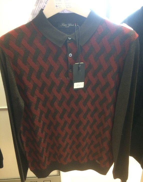 Sweater Polo Collar Button Male Sweater Sweater 3839