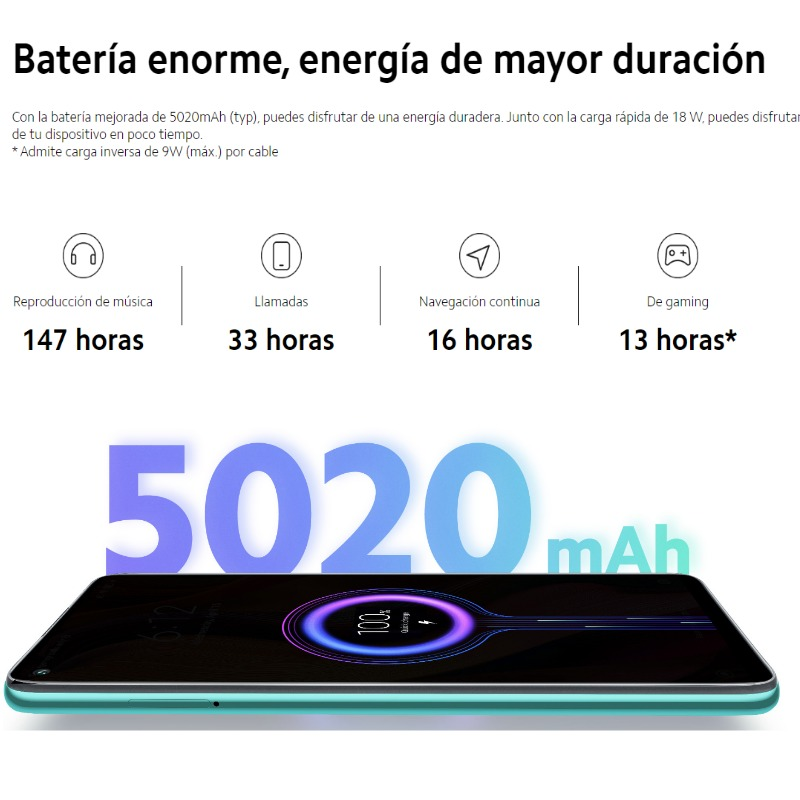 Xioami Redmi Note 9 (64GB 3GB RAM/128GB, 4GB RAM, Cuatro cámaras y 48 MP, Android, Nuevo, Libre) [Teléfono Movil Versión Global]