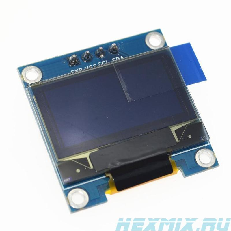 OLED I2C Display Screen Size 0.96 And 128x64 Resolution