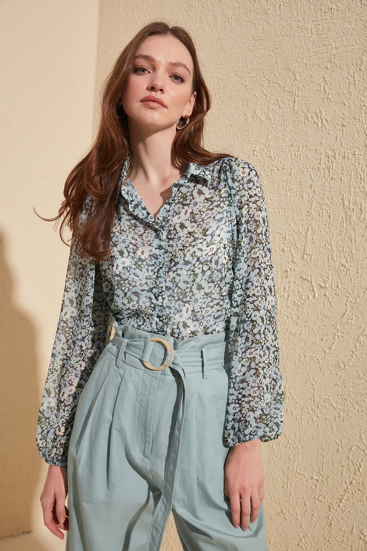 Trendyol Flower Pattern Shirt TWOSS20GO0292