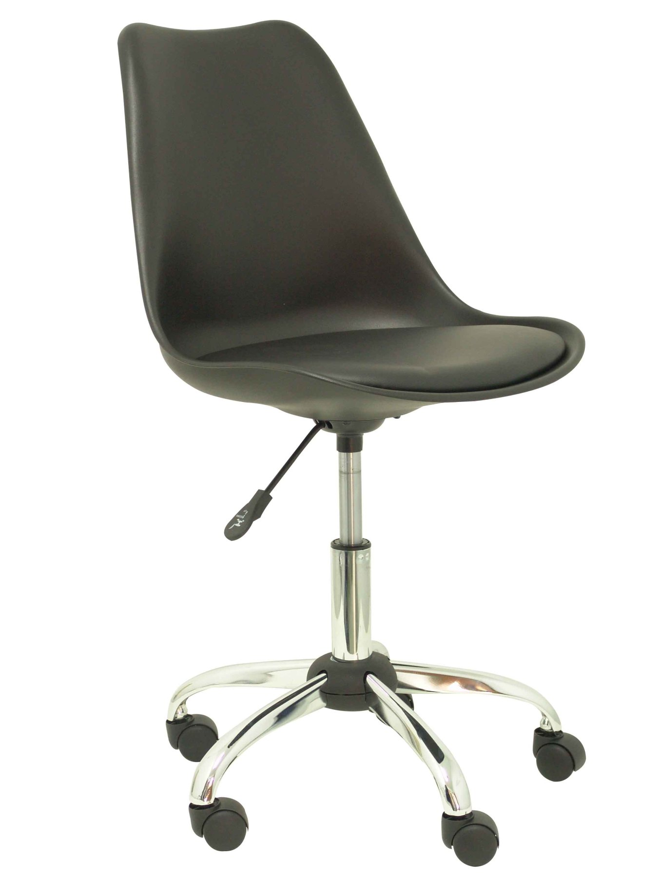 Office Chair Ergonomic Adjustable Height And Swivel 360 °-Seat And Back Black Color Plastic, C