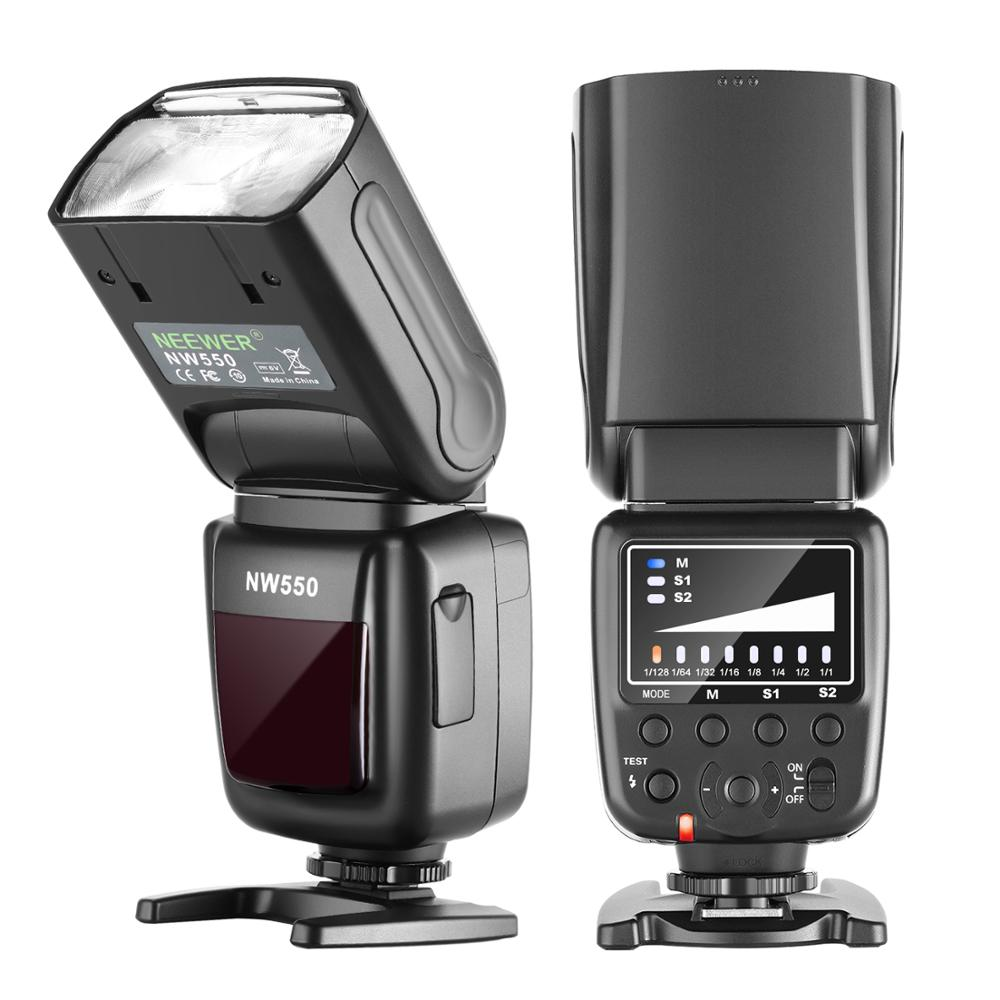 Вспышка Neewer NW550, совместима с Canon Nikon Panasonic Olympus Pentax, Sony с Mi Hot Shoe и другими DSLRs