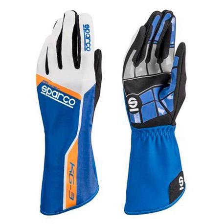Gants Sparco Track Kg-3 Tg. 06 bleu/orange