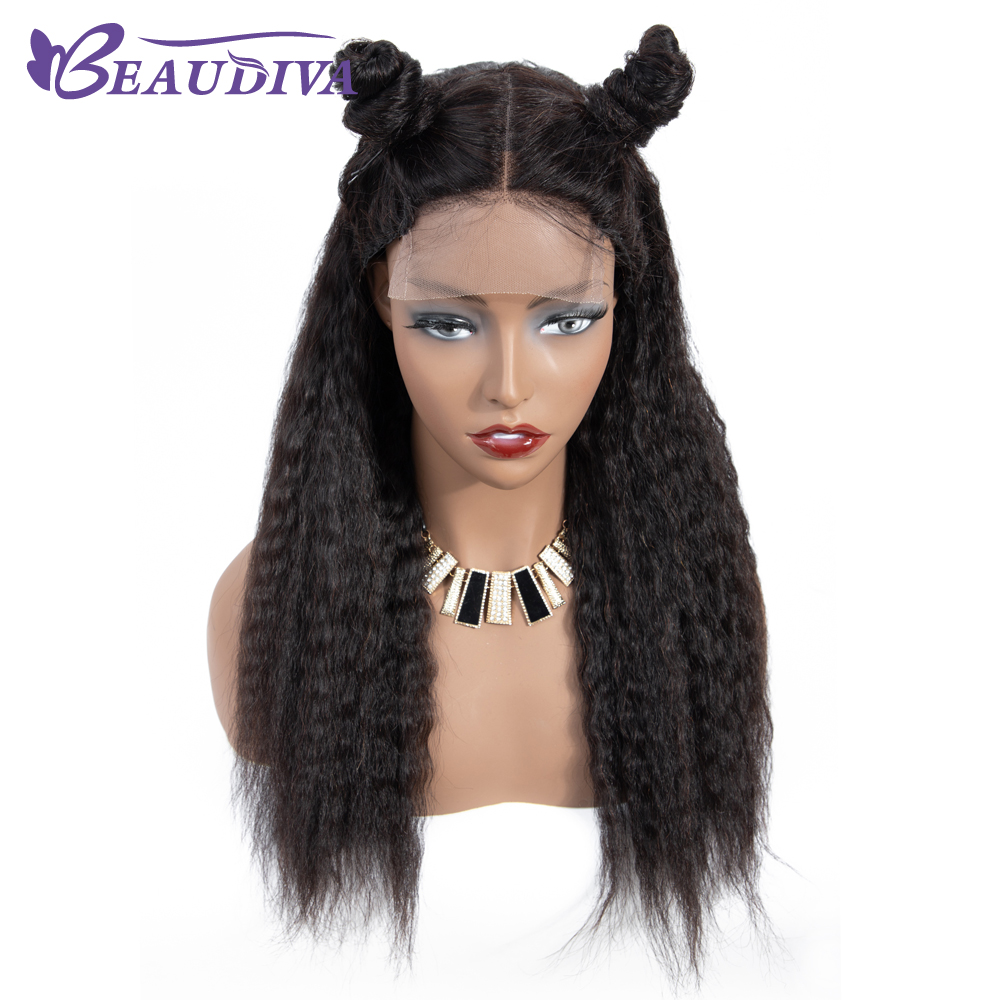 U3efae4c778ee4547972042b3ff5a4133K Curly Haman Hair Wig Brazilian Kinky Straight 4*4 Lace Closure Prepluck with baby hair closure wig 100% Human Hair Wigs