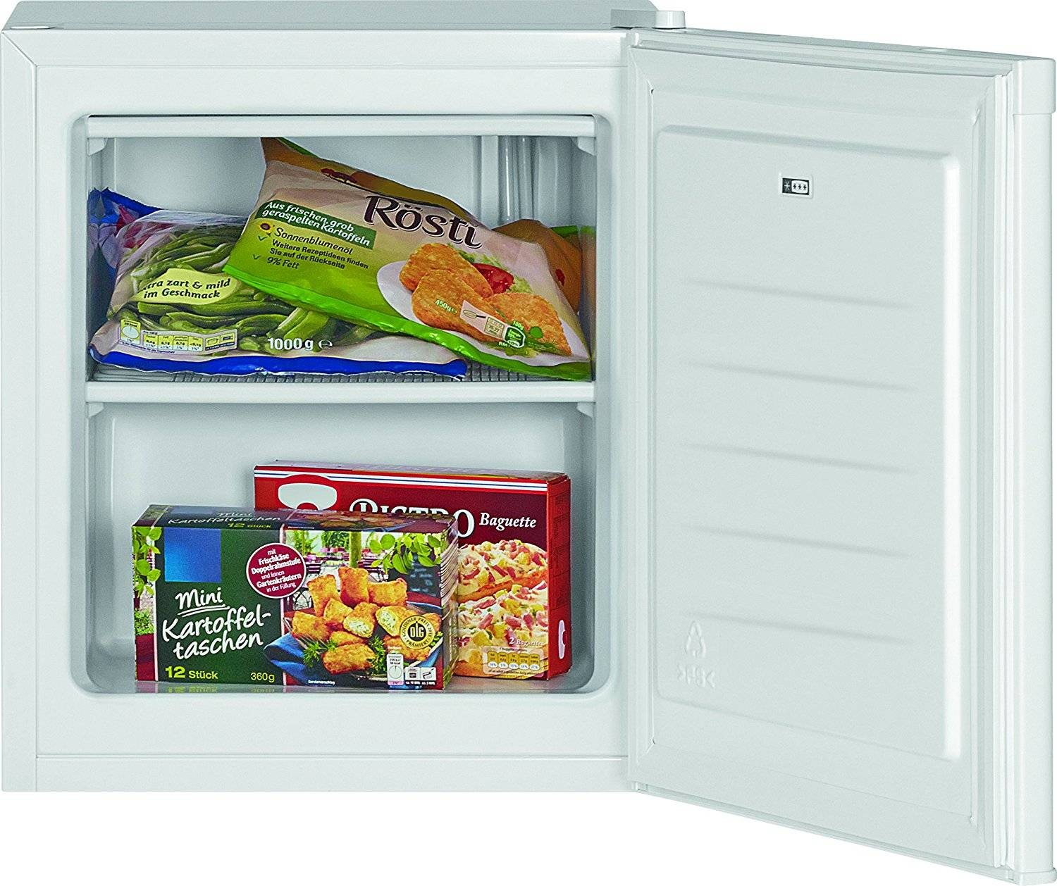 Bomann Hard GB 388 Freezer Vertical Independent Petty Drawers Capacity 30 Liters Gate Reversible White A + +