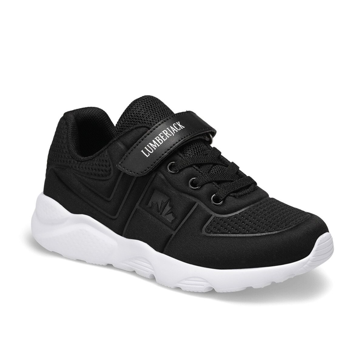 FLO WILEY TEXT Black Male Child Running Shoes LUMBERJACK