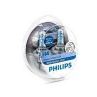 PHILIPS 12342WVUSM H4 12 V-60/55 W (P43t) (absolutely white light) whiteVision Ultra (N. pack 2 pcs) 59251