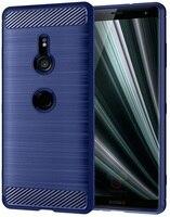 Case Sony Xperia xz3 color blue (blue), carbon series, caseport