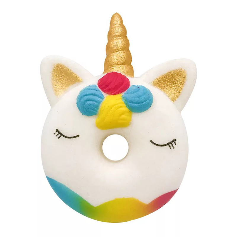 New Fashion Squishy Slow Rising Kids Toys Unicorn Donut Stress Reliever Squeeze Toys For Kids Funny Collection Toys