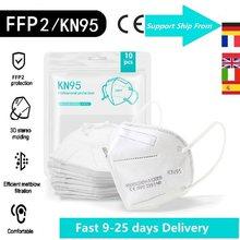 1-200 pces ffp2 máscara kn95 mascarillas ffp2mask kn95mask ce certificado reutilizável boca máscara protetora 95% filtro respirador