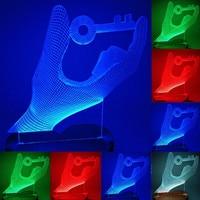 N 070 key heart 3D USB led Eco friendly lamp night light  hand  table night light  home decor |LED Night Lights|   -