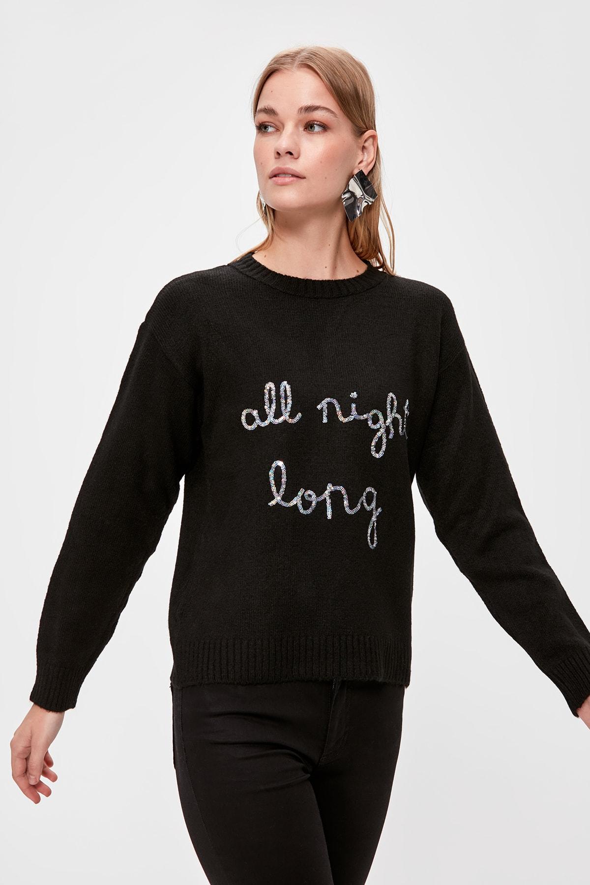 Trendyol Sequined Sweater Sweater TWOAW20KZ0610