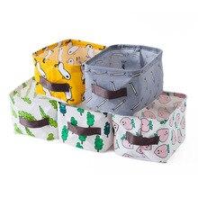 With Handle Desktop Storage Basket Cartoon Fish Makeups Toy Organizer Sundries Storage Box Household Organization Container Case
