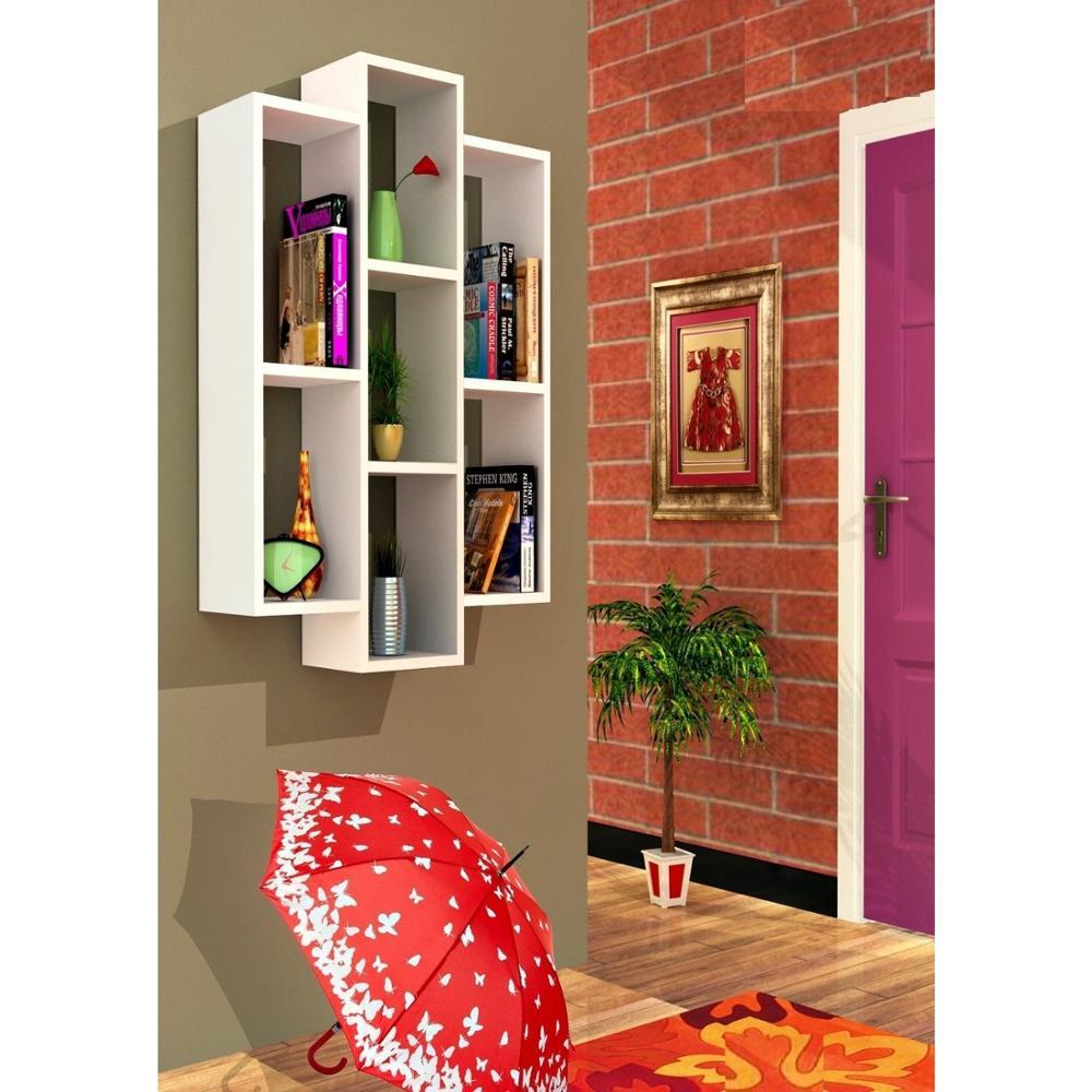 ชั้นวาง & ชั้นวาง MADE IN ตุรกีโมเดิร์นชั้นวาง 4 สีตัวเลือกห้องนั่งเล่นไม้ผู้ถือหนังสือ Organizer ชั้นว...