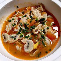 番茄口蘑锤肉片汤的做法图解13