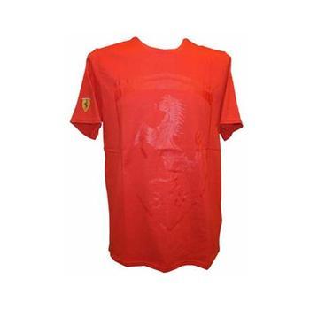 T-shirt man Ferrari logo red size S