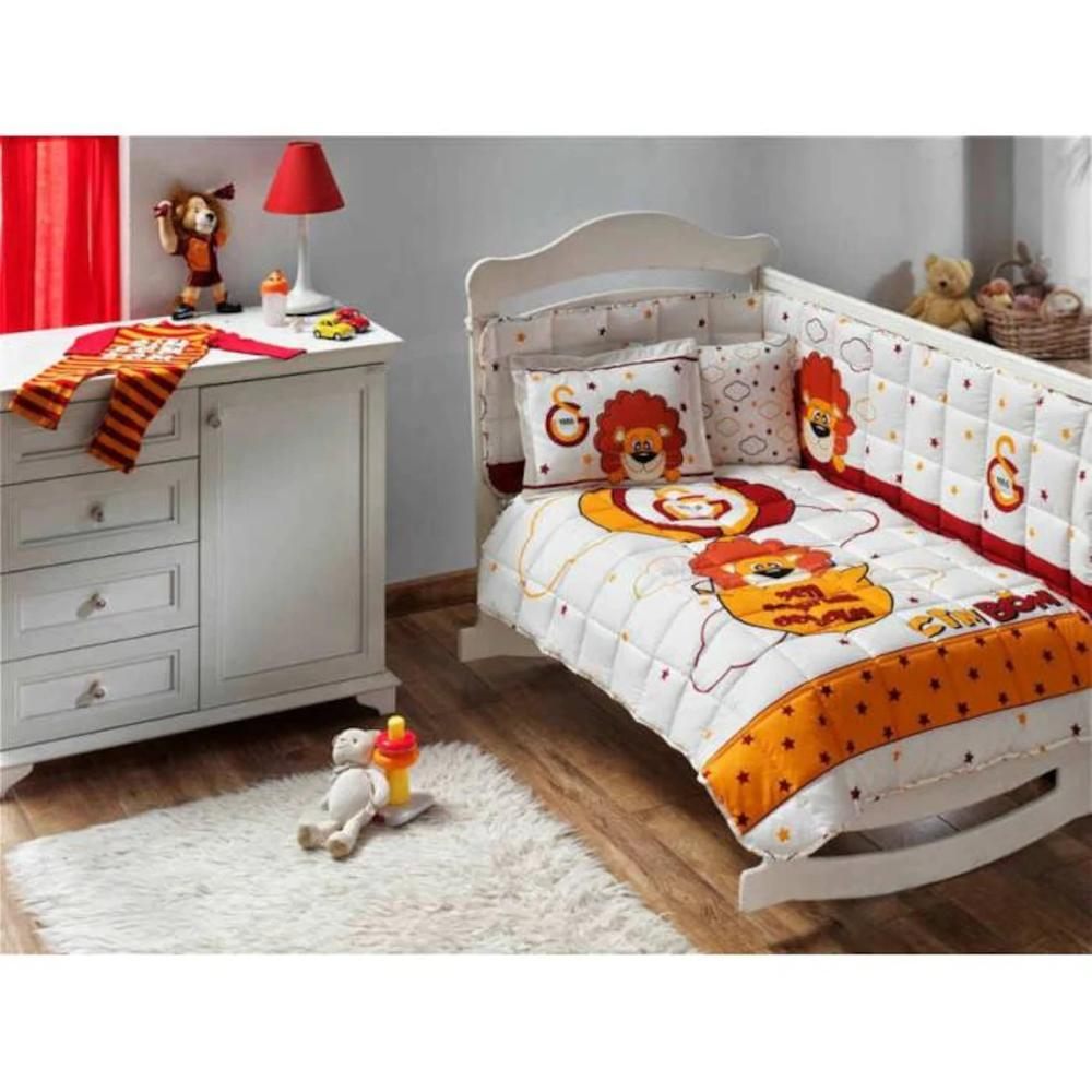 Made In Turkey GALATASARAY Infant Baby Crib Bedding Bumper Set For Boy Girl Baby Cot Cotton Soft Soccer Fan Antiallergic GS Lion