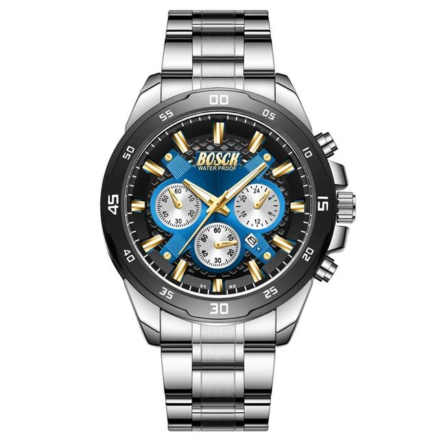 мужские роскошные водонепроницаемые кварцевые часы bosck 30 фотография