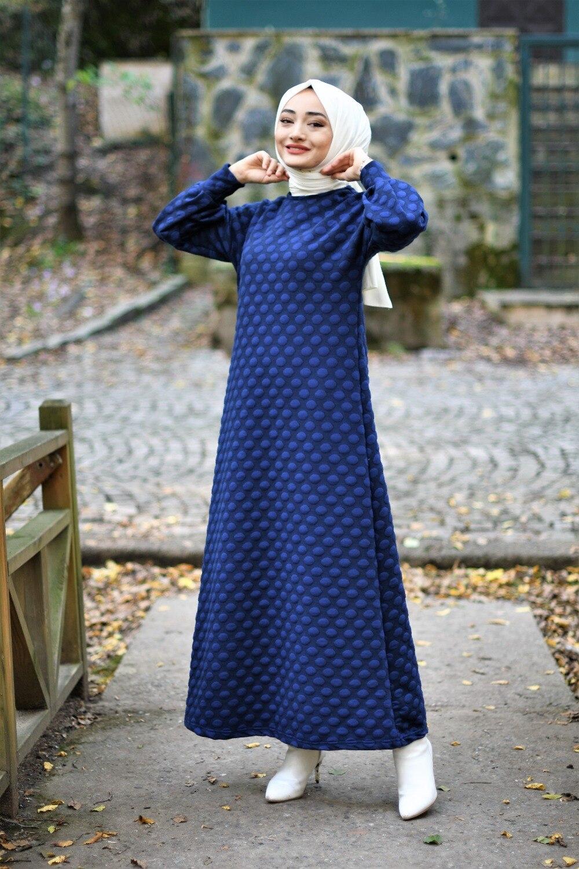 ponpon-detay-elbise-saks-gunluk-tesettur-elbise-15551-45-B