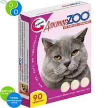 Доктор Зоо Витамины со вкусом говядины для кошек 90 таб