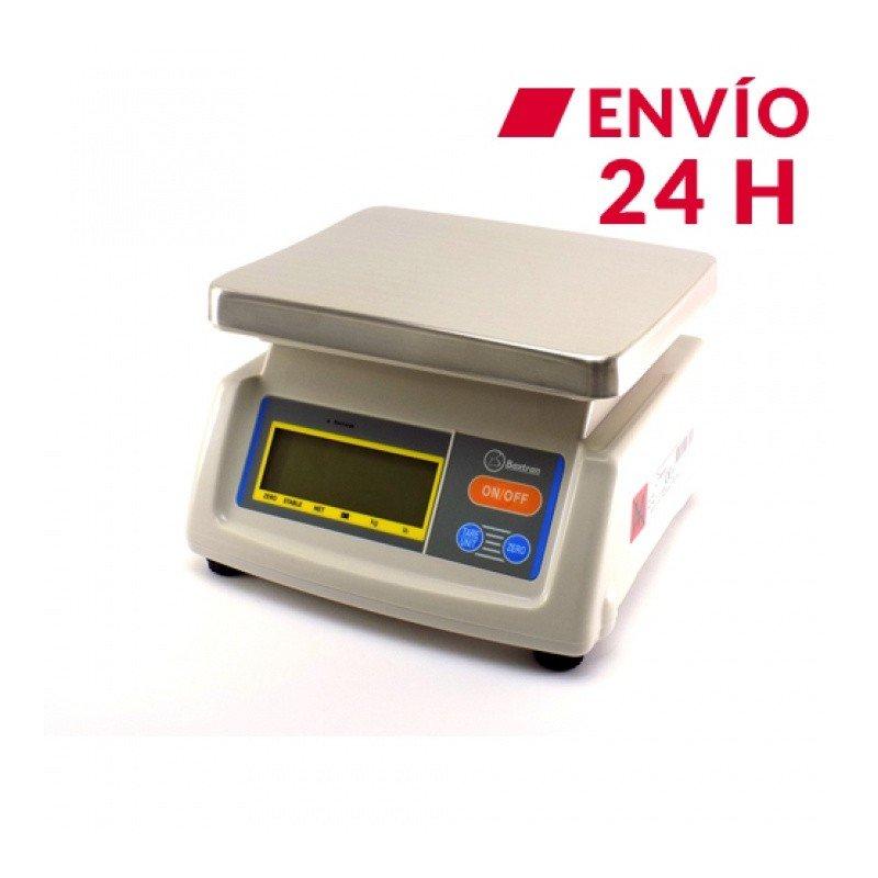 Balanza digital panaderia, obrador, panificadora 15 кг мод. BS con Bateria interna recargable, tara y protegida contra el polvo