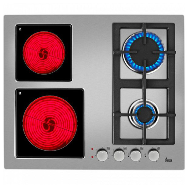 Gas Hob Teka EFX60 (60 cm) Stainless steel (2 Stoves)|Cooktops| |  - title=