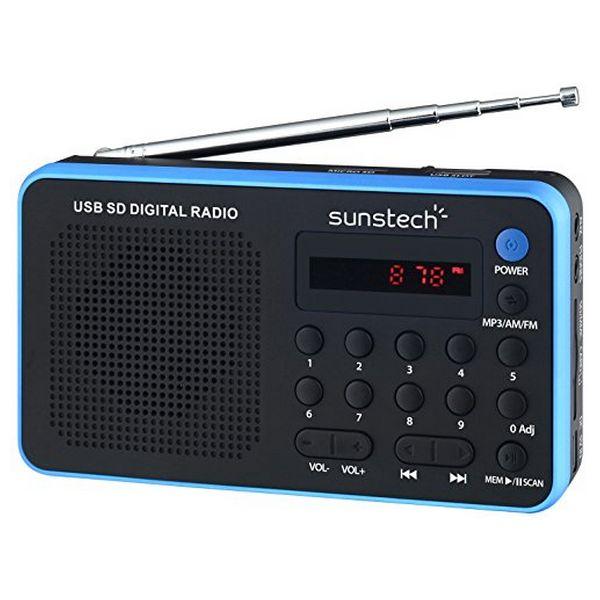 Транзисторный радиоприемник Sunstech RPDS32BL, синий